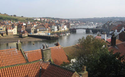 Whitby - view down to moving bridge